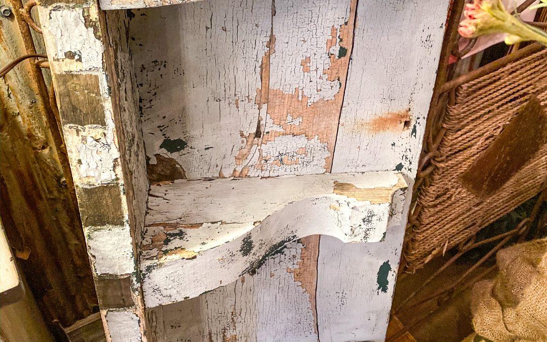 DIY Architectural Salvage Shelf