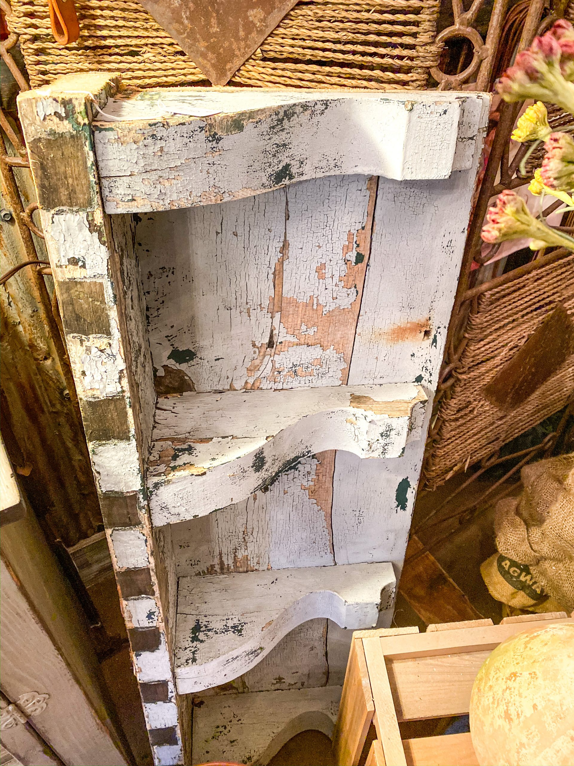 DIY Architectural Salvage Shelf