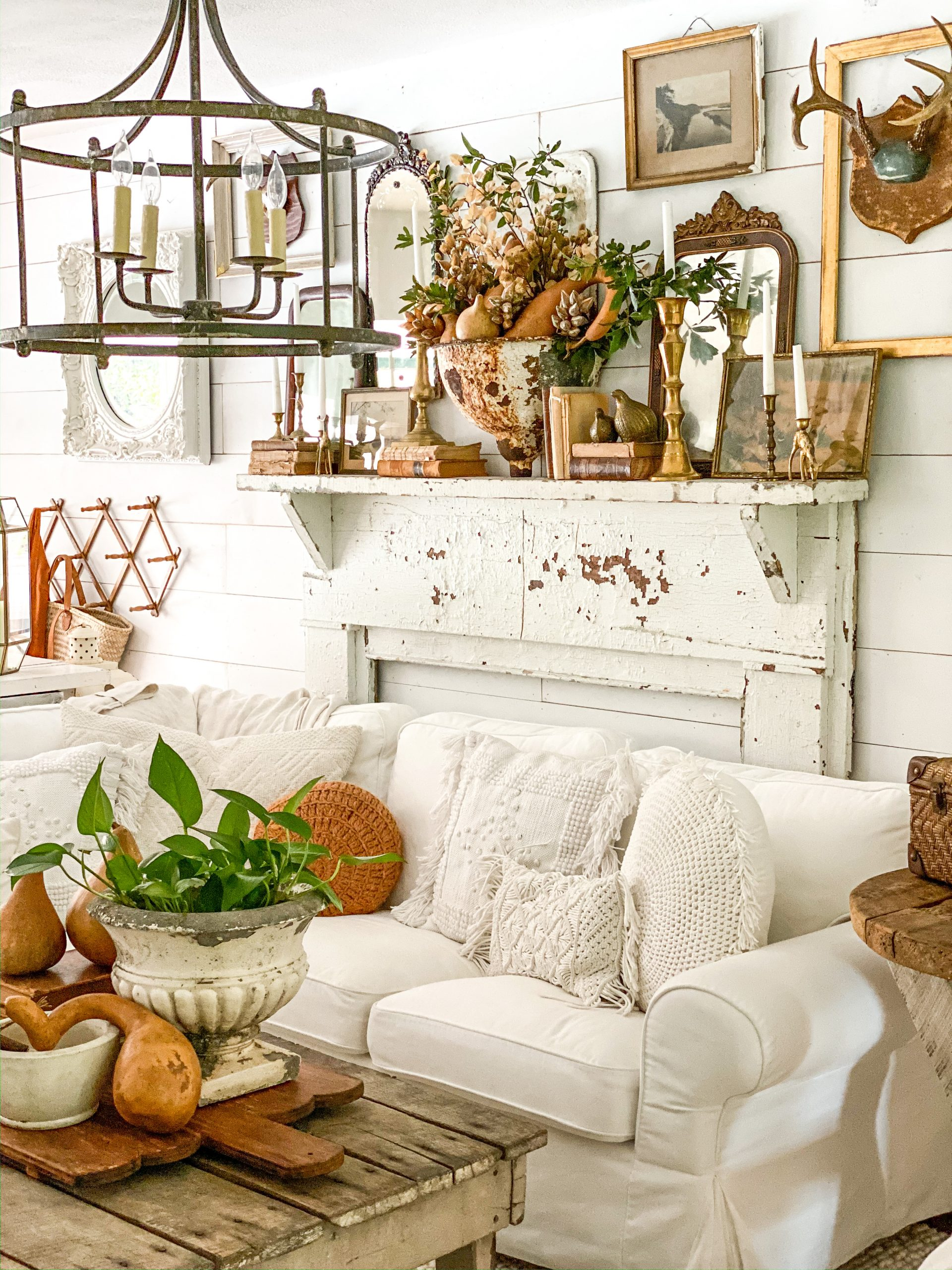 3 Really Unique Things to Add to Your Fall Mantel