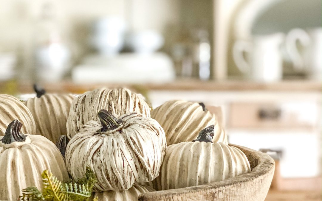 Beautiful Fall Dough Bowl Decor in 3 Minute Styles