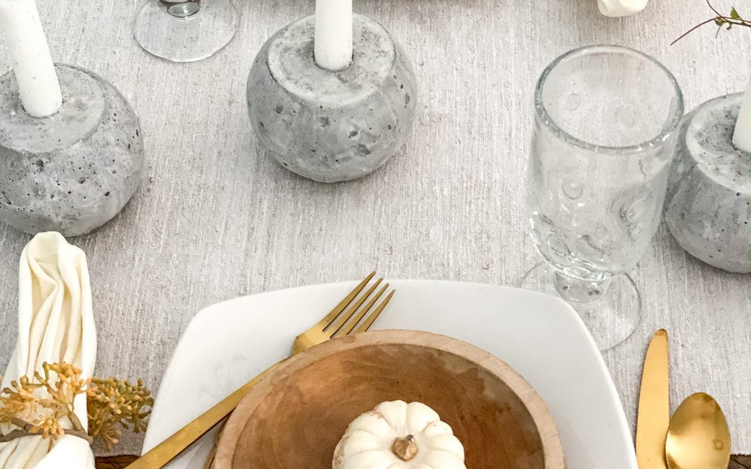 How to Make Easy DIY Pumpkin Candle Holders